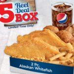 Long John Silver's Offers $5 Reel Deal Box